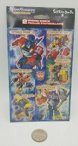 Transformers Energon Sticker Sheets Stickety-Doo-Da Optimus Prime Hot Shot MOSC