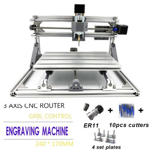 MINI 2417 DIY CNC 60W Laser Cutter Drucker 3 Achsen Fräsmaschine Holzfräser Set