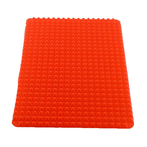CW/_ Red Pyramid Pan Nonstick Silicone Baking Mat Mould Cooking Mat Oven Baking T