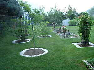 Image Is Loading 4 LARGE DIY CONCRETE GARDEN EDGING LAWN LANDSCAPE