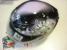 CASCO AGV K-3 MULTI FLEURS BLACK XL PINK MOTORCYCLE HELMET AGV CASQUE HELM