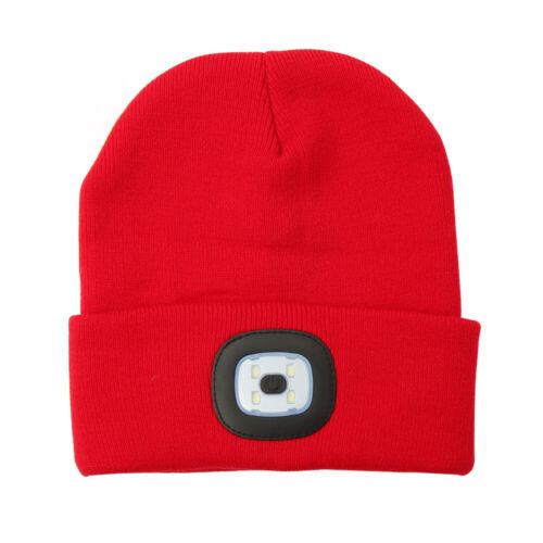 LED Beanie Hat With USB Rechargeable Battery Unisex High Powered Head Lamp Light