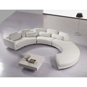 Rund Ecksofa Couch Polster Leder Design Rundes Sofa Garnitur