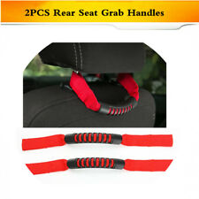 Grab Handle Roll Rear Seat Headrest Grip Pull Strap for JEEP Wrangler 07-17 Red