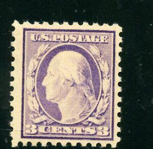 UNITED STATES 3c WASHINGTON SCOTT#464 MINT NEVER HINGED ORIGINAL GUM--SCOTT $165
