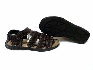 NEW-Coleman-Men-039-s-MARTIN-Leather-Adjustable-Fisherman-Sandals-Brown-145L