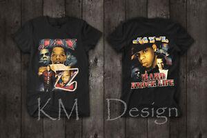 8eca8ae2 Vintage 90s JAY Z HARD KNOCK LIFE Rap Tee T shirt Double Sided Hip ...