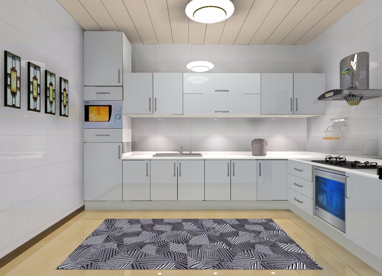 3D Stripe Floo110 Kitchen Mat Floor Murals Wall Print Wall Deco AJ WALLPAPER UK
