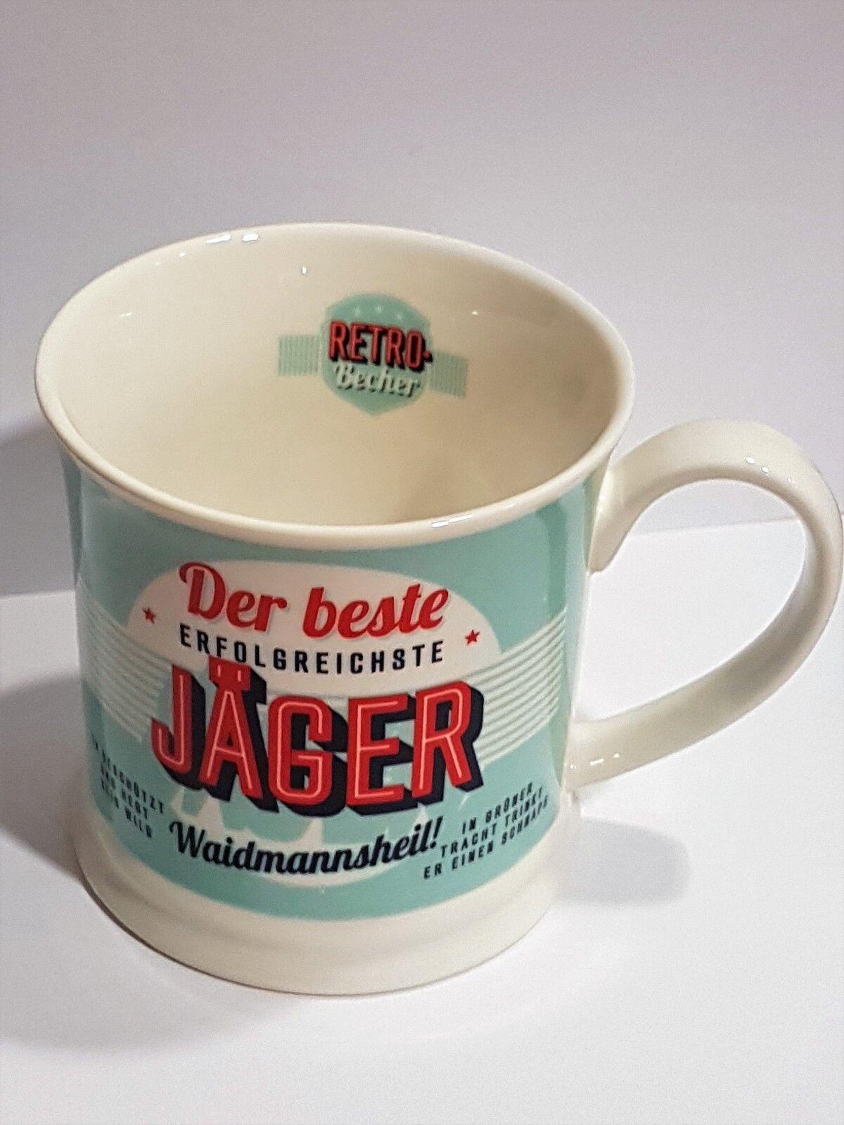 Jäger Becher DER BESTE JÄGER Jagd Retrobecher Kaffeebecher von GlasXpert