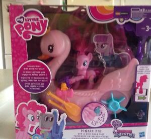 Toy My Little Pony Friendship Magic Pinkie Pie Row Hide Swan Boat Hasbro Ages 3