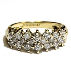 14k-yellow-gold-78ct-SI3-I-cluster-diamond-anniversary-band-ring-4-9g-7-womens