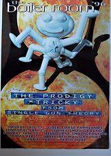 BOILER ROOM 96 RARE AUSTRALIA PROMO GIG POSTER PRODIGY TRICKY SINGLE GUN THEORY