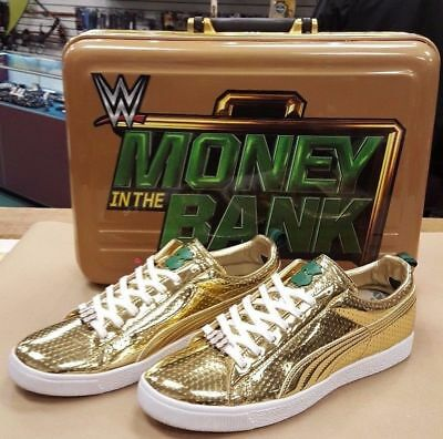Puma Clyde x WWE Money In the Bank Gold Sneakers Shoes Limited 100 Pairs NEW 10 | eBay