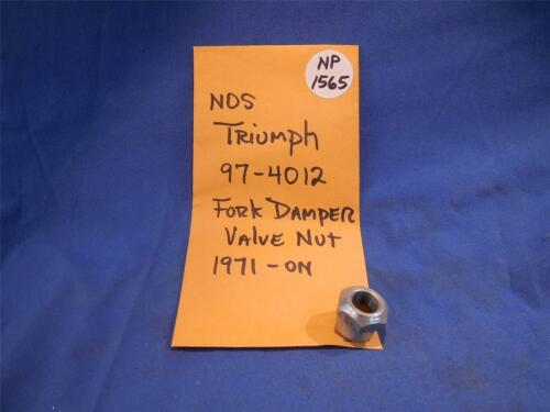 Triumph 97-4012 Fork Damper Valve Nut 1971-on NOS  NP1565