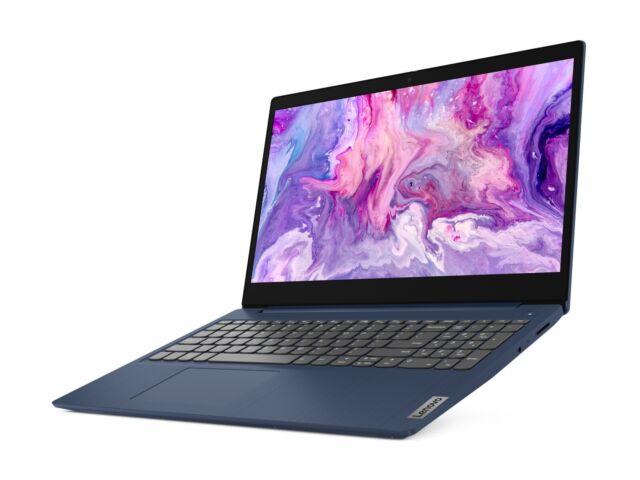 "Lenovo IdeaPad 3 15.6"" Laptop Intel Core i3 8GB Memory 256GB SSD - Blue - NEW"