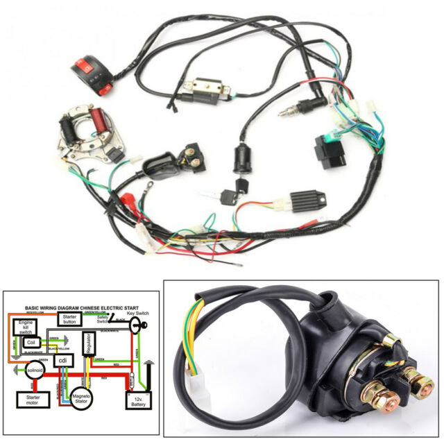 50cc-125cc CDI Wire Harness Stator Assembly Wiring for Chinese ATV Electric  Quad for sale online   eBayeBay