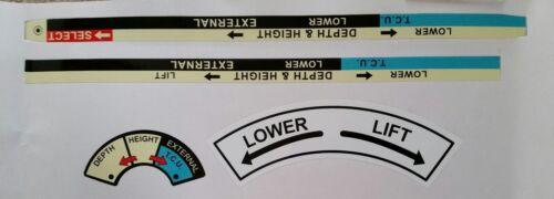 David Brown selectamatic Tractor DECAL Conjunto de control de posición