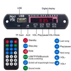 Telecommande-Voiture-Sans-Fil-Bluetooth-MP3-Decoder-Board-Audio-Module-USB-TF-Radio