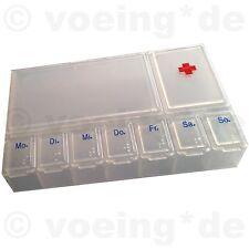Medikamenten-Dosierer Pillendose Tablettendose Tablettenbox mit 7 Tageansicht