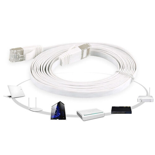 1m-5m High Quality Cat6 1000Mbps Ethernet Cable Flat RJ45 LAN Network Cord BR G$