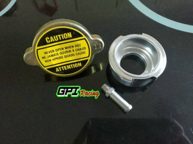 GPI 1.1 Bar Radiator Cap & Weld on Billet Aluminum Filler Neck
