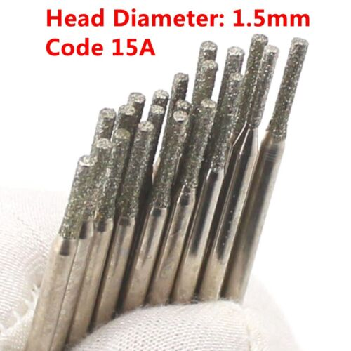 30Pcs 1.5mm Diamond Saw Drill Coated Hole Cutter Solid Bits for Dremel Gemstone
