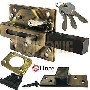 Lince Lock High Security Heavy Duty Garden Side Gate Shed Garage ...