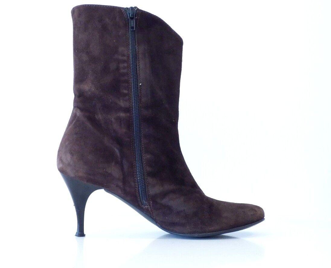 Women's Vintage Vintage Vintage VAGABOND Stiletto Heel Brown Real Leather Suede Ankle Boots UK5 a9bd87
