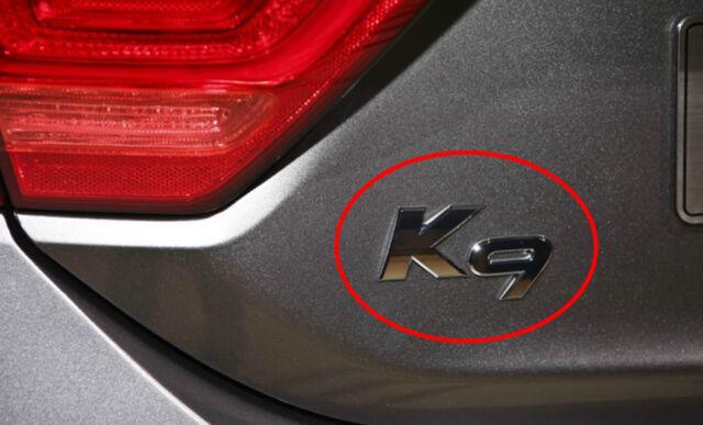 OEM K9 Lettering Emblem Trunk Lid Rear Emblem for 2013-2016 KIA QUORIS K9