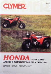 new honda atv trx 200 250 trx250 fourtrax repair manual ebay rh ebay com 1987 Honda 250R 1987 Honda $250 for Stroke