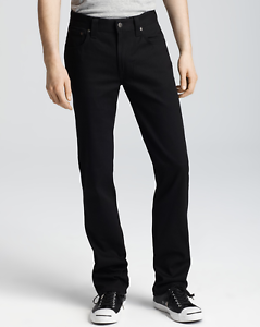 Nudie-Jeans-Slim-Jim-BLACK-TWILL-size-28