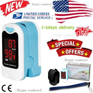 US-seller-Finger-Pulse-Oximeter-Blood-Oxygen-Sensor-O2-SpO2-Monitor-Heart-Rate