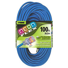 Prime Wire & Cable NS514835 12/3 SJTW Ext. Cord with Indicator Light, 100-Feet