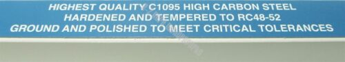 ".004 //.102mm Feeler Gage Gauge 12/"" Long Strip 1//2/"" Wide USA Made Carbon Steel"