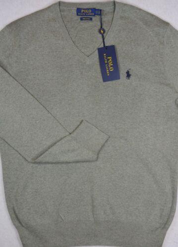 Ralph Xxl Maglione New Cotton Taglia Fawn Grigio Nwt Lauren 99 Polo Pima Vneck 889425099369 dzwCdq