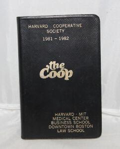 Harvard Calendar.Details About Harvard Cooperative Society 1981 1982 Calendar Notebook The Coop Unused Vintage