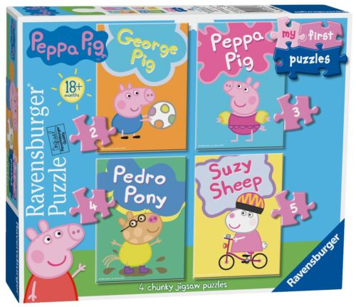NEW Ravensburger Peppa Pig 4 my 1st jigsaw puzzle set 18 months 06960