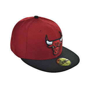 7062156f538 New Era Chicago Bulls NBA 59Fifty Men s Fitted Hat Cap Red Black