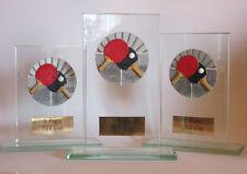 """3er-Serie Glas-Pokale """"Tischtennis"""" mit Wunschgravur"""