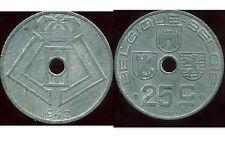 BELGIQUE BELGIUM  WW2   25 cent 1942 ( belgique belgie )  ( ca )
