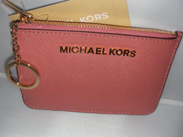 7967e5000d6f NEW MICHAEL KORS LADIES WALLET SMITZCOINPOUCH LEATHER ANTIQUE ROSE COLOR