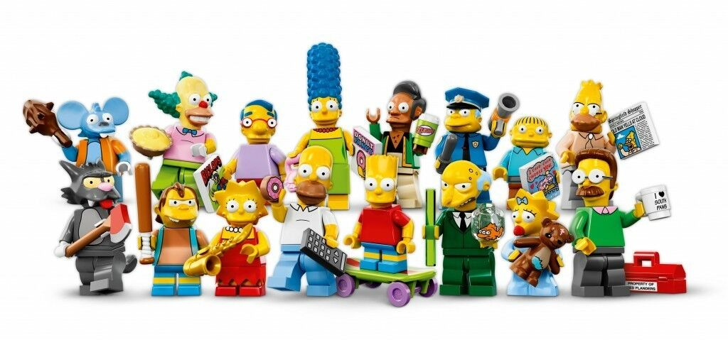 Lego simpsons minifigures series 1 complete still factory sealed.Collectors item
