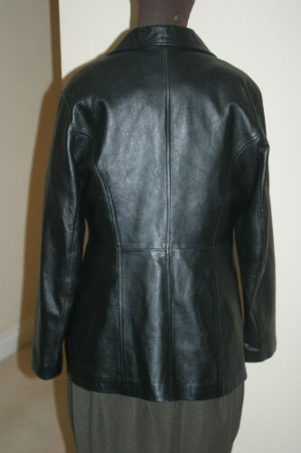 Lambskin Leather Chest Black C43in Real Eagles C109c Coat Uk18eu44us14 Xl Womens ycIPZZ1RE