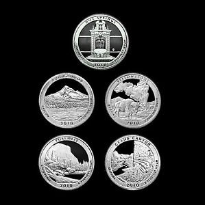 2010-S-America-the-Beautiful-National-Parks-Mint-Clad-Proof-Set-of-U-S-Quarters