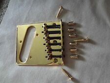 Mighty Mite Contemporary Tele Style Bridge-Gold