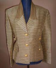 VERTIGO Pour La Ville Paris Made in France Lined Career Blazer Jacket Size S