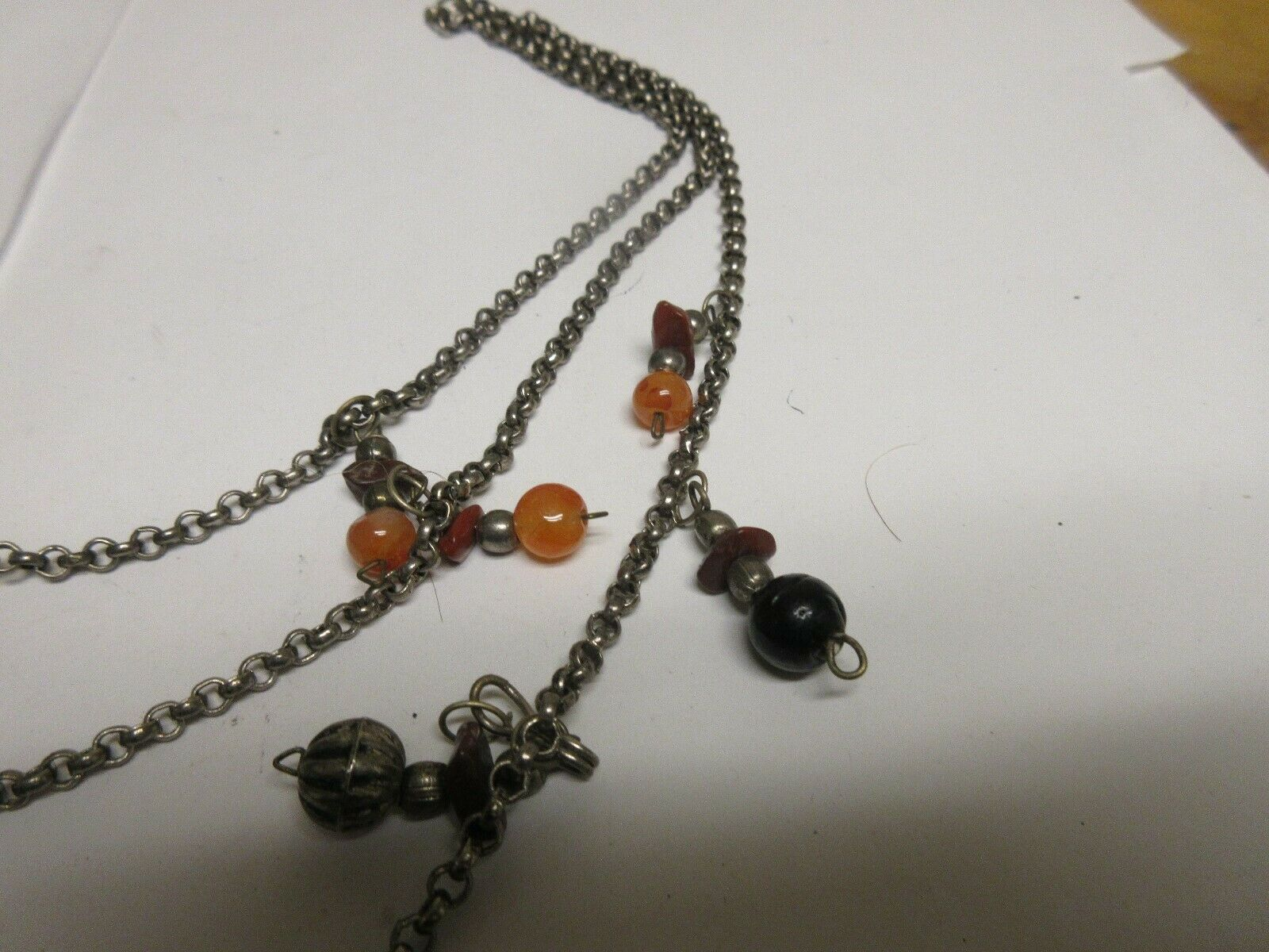 Costume Jewelry ,Vintage , Necklace , 3 Strand , Charms