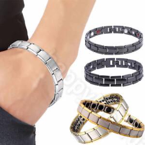 Men-Women-Titanium-Steel-Therapy-Energy-Magnetic-Bracelet-Health-Care-Gift