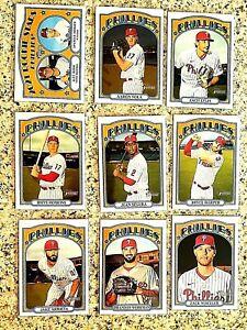 Lot of 9 2021 Topps Heritage Philadelphia PHILLIES Baseball cards, Bryce Harper