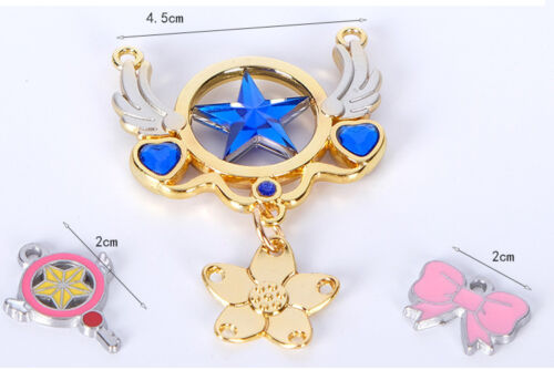Anime Card Captor Sakura Keyring Pendant Necklace Cosplay Keychain 10pcs//set